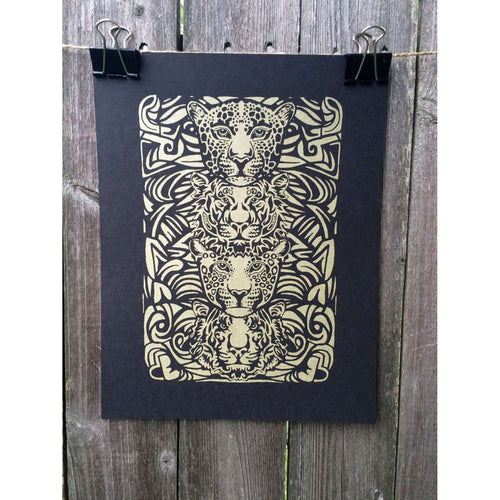 Jungle Cats Print by The 50/50 Company on Katt.