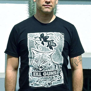 Kill Guns T-Shirt by HOMOCATS on Katt.
