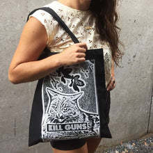Kill Guns Tote Bag by HOMOCATS on Katt.