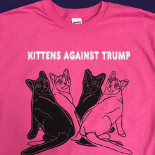 Kittens Against Trump Pink T-Shirt by HOMOCATS on Katt.