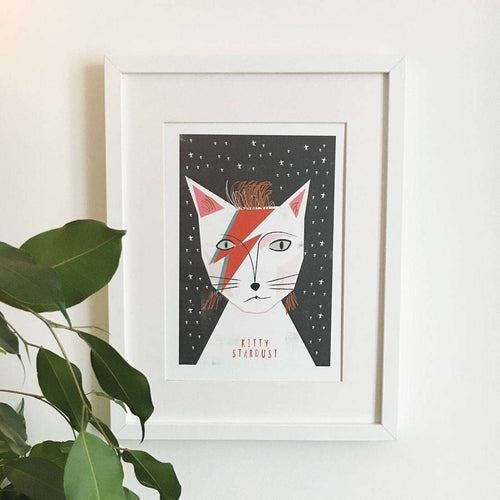 Kitty Stardust Print by Niaski on Katt.
