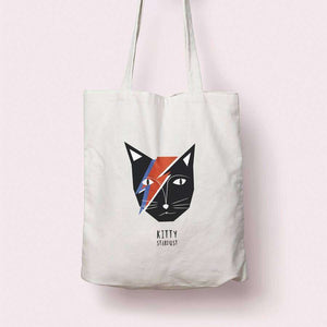 Kitty Stardust Tote Bag - Tote Bag by Niaski on Katt.