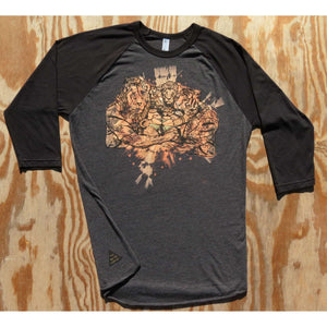 Lion, Tigers and Beers Baseball T-Shirt by The 50/50 Company on Katt.