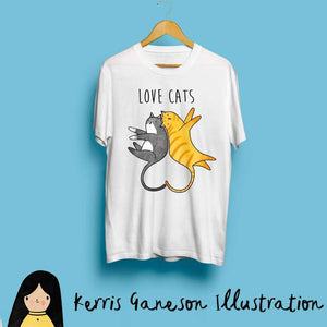 Love Cats Kids T-Shirt by Kerris Ganeson on Katt.