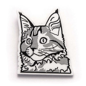 Maine Coon Cat Brooch by Fibularia on Katt.