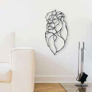 Mini Respectful Lion Trophy Wall Sign - Wall Sign by Hu2 Design & Art on Katt.