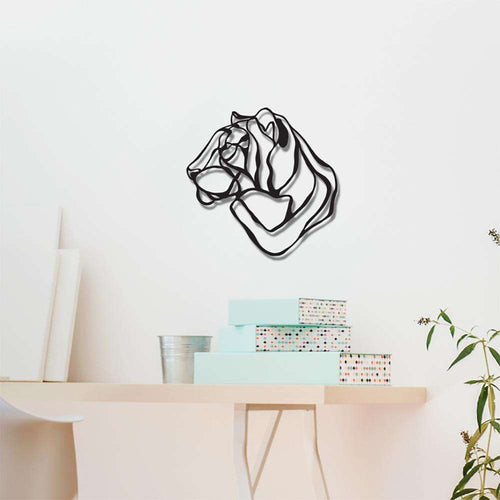 Mini Respectful Tiger Trophy Wall Sign - Wall Sign by Hu2 Design & Art on Katt.