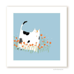 Miss Poppy Cat Print by The Dancing Cat on Katt.