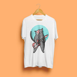 Moggy Stardust Unisex T-Shirt by Kerris Ganeson on Katt.