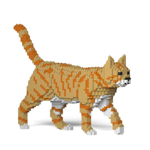 "Orange Tabby Cat Sculpture, Walking (41.3 x 28.8 cm / 16.3"" x 11.3"") by JEKCA on Katt."