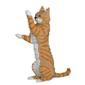 "Orange Tabby Cat Sculpture, Sitting Upright (39.2 x 35.6 cm / 15.4"" x 14.0"") by JEKCA on Katt."