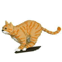 "Orange Tabby Cat Sculpture, Running (21.7 x 46.3 cm / 8.5"" x 18.2"") by JEKCA on Katt."