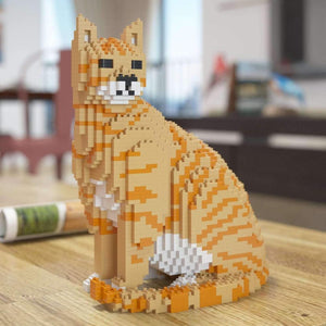 "Orange Tabby Cat Sculpture, Sitting (27.1 x 22.5 cm / 10.7"" x 8.9"") by JEKCA on Katt."