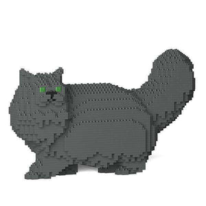 "Persian Cat Sculpture, Walking (22.1 x 37.5 cm / 8.7"" x 14.8"") / Grey by JEKCA on Katt."