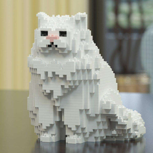 Persian Cat Sculpture, Sitting (20.0 x 20.6 cm / 7.9