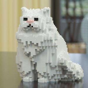 "Persian Cat Sculpture, Sitting (20.0 x 20.6 cm / 7.9"" x 8.1"") / White by JEKCA on Katt."