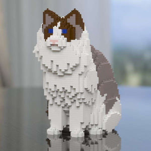 "Ragdoll Cat Sculpture, Grey Back / Sitting (25.4 x 23.1 cm / 10.0"" x 9.1"") by JEKCA on Katt."