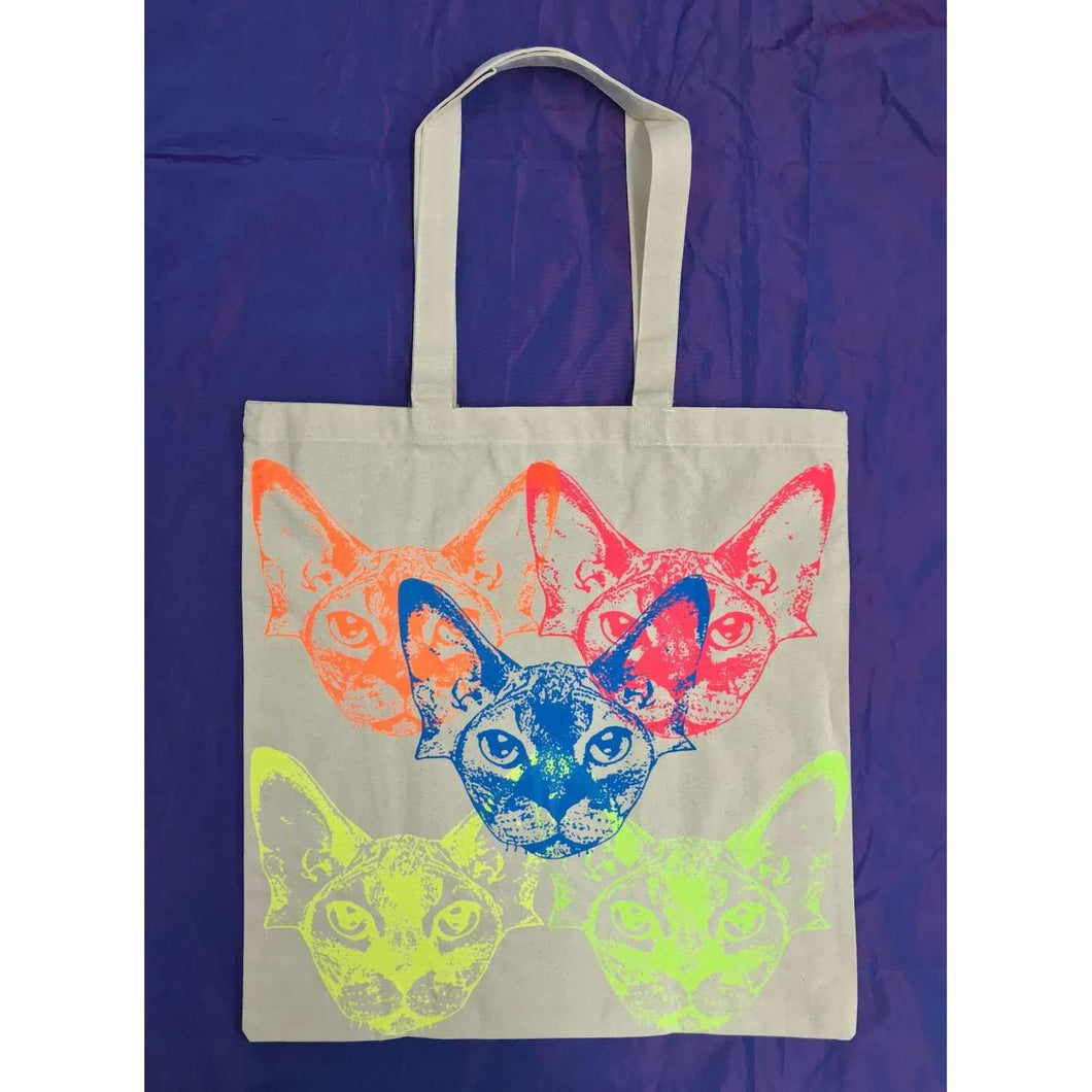 Rainbow Cats Tote Bag by HOMOCATS on Katt.