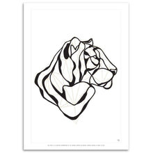Respectful Tiger Print by Hu2 Design & Art on Katt.