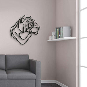 Respectful Tiger Trophy Wall Sign - Wall Sign by Hu2 Design & Art on Katt.