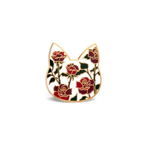 Rose Cat Pin - Pin by Shugarush on Katt.