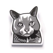 Russian Blue Cat Brooch by Fibularia on Katt.