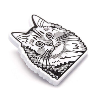 Siberian Cat Brooch by Fibularia on Katt.