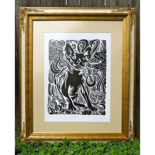 Sphynx Cat Print by The 50/50 Company on Katt.