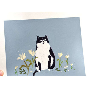 The Nature Lover Cat Print by The Dancing Cat on Katt.