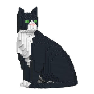 Tuxedo Cat Sculpture by JEKCA on Katt.