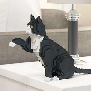 "Tuxedo Cat Sculpture, Paw (47.5 x 27.5 cm / 18.7"" x 10.8"") by JEKCA on Katt."