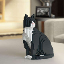 "Tuxedo Cat Sculpture, Sitting (27.1 x 22.5 cm / 10.7"" x 8.9"") by JEKCA on Katt."