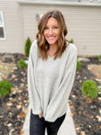 Gray Balloon Sleeve Sweater