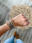 Grey + Rose Gold Bracelet Set