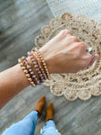Mauve + Rose Gold Bracelet Set