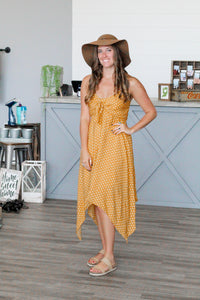 Honey Mustard Dot Dress - FINAL SALE