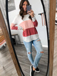 Pink Color Block Top