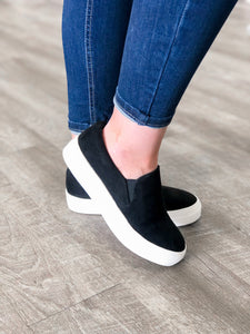 Black Slip-On Sneakers - FINAL SALE