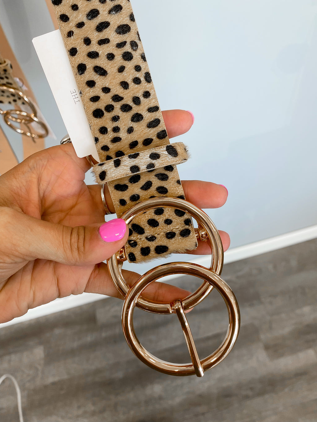 Cheetah Double Ring Belt