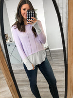 Lilac Striped Hoodie