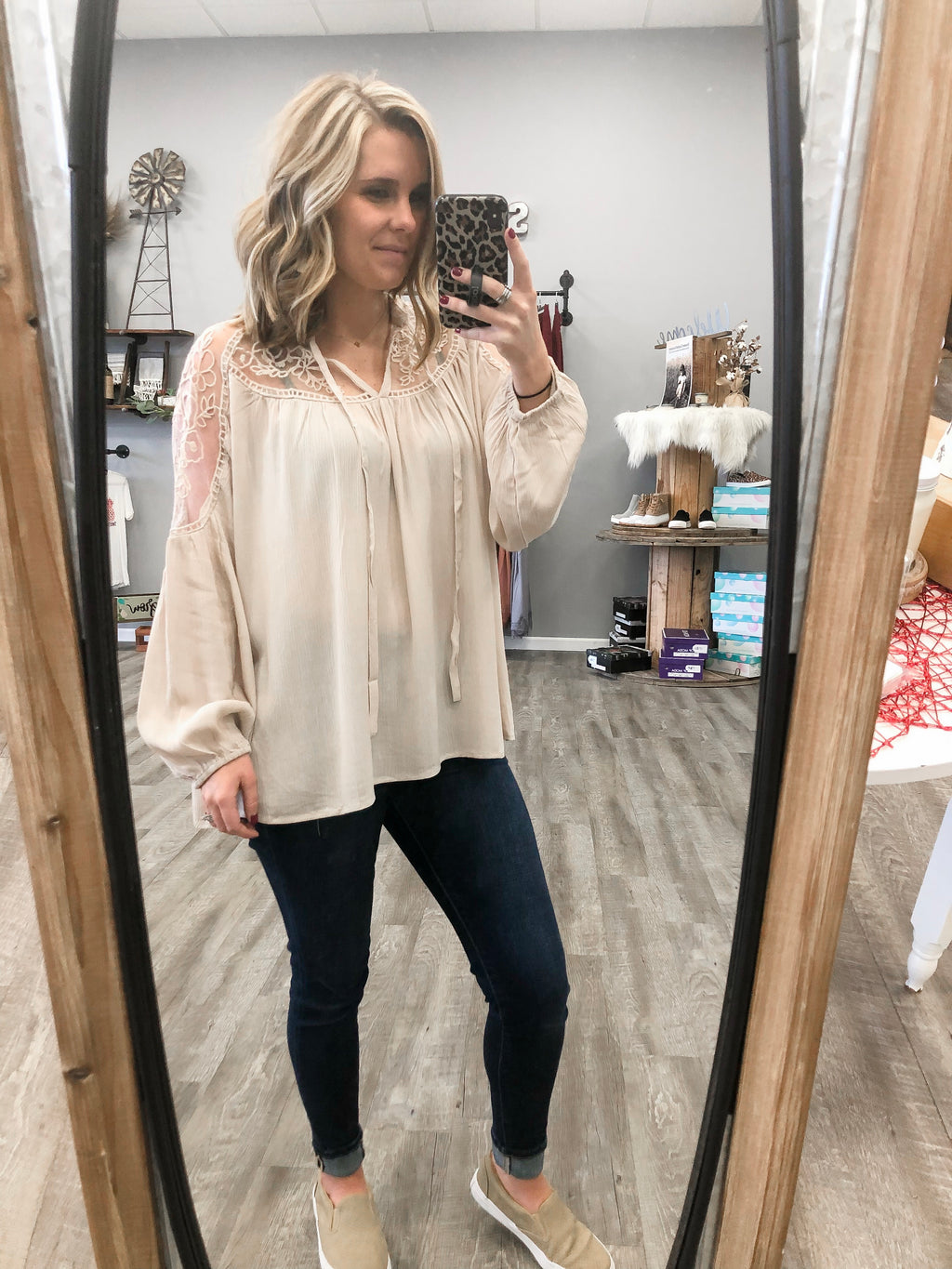 Almond Lace Blouse