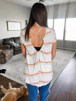 Multi Stripe Cross Back Top