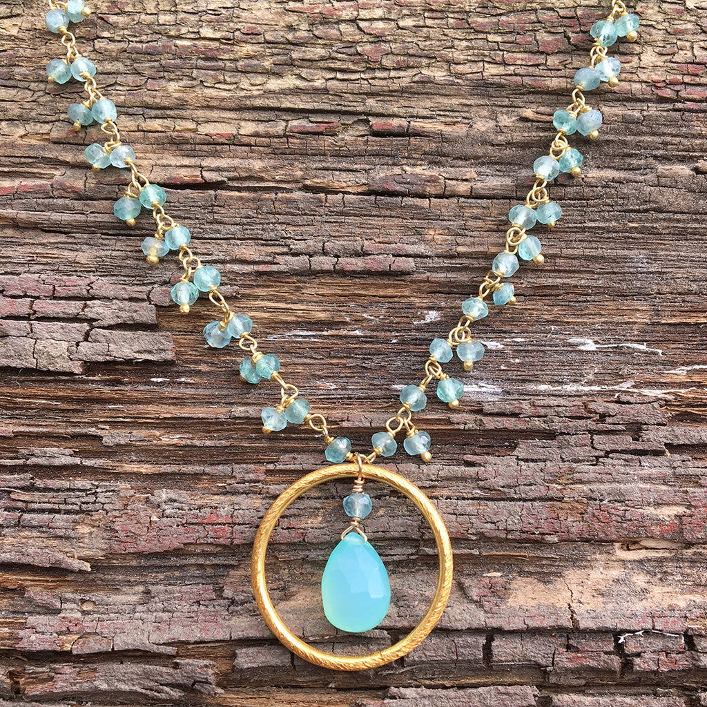 Apatite & Chalcedony Necklace
