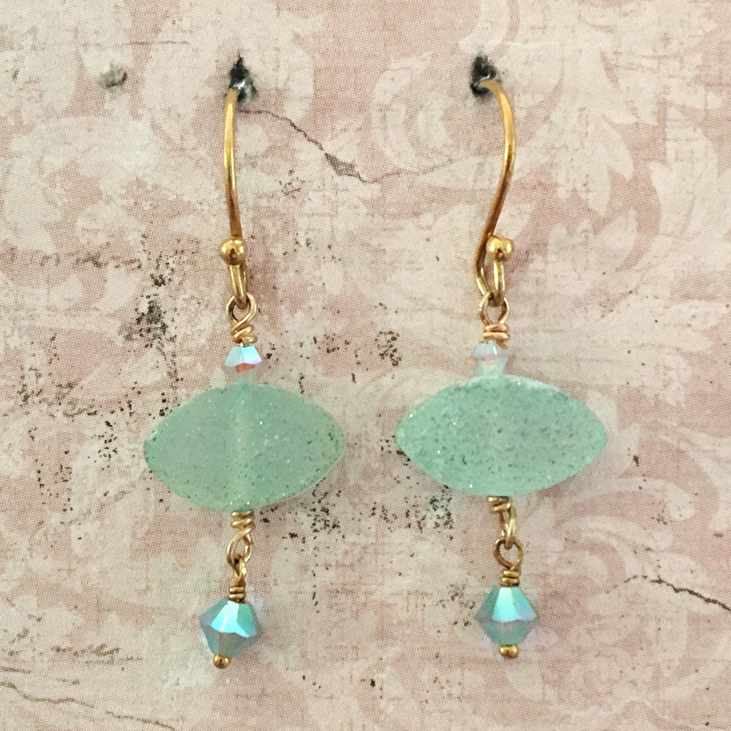 Aqua Druzi Earrings
