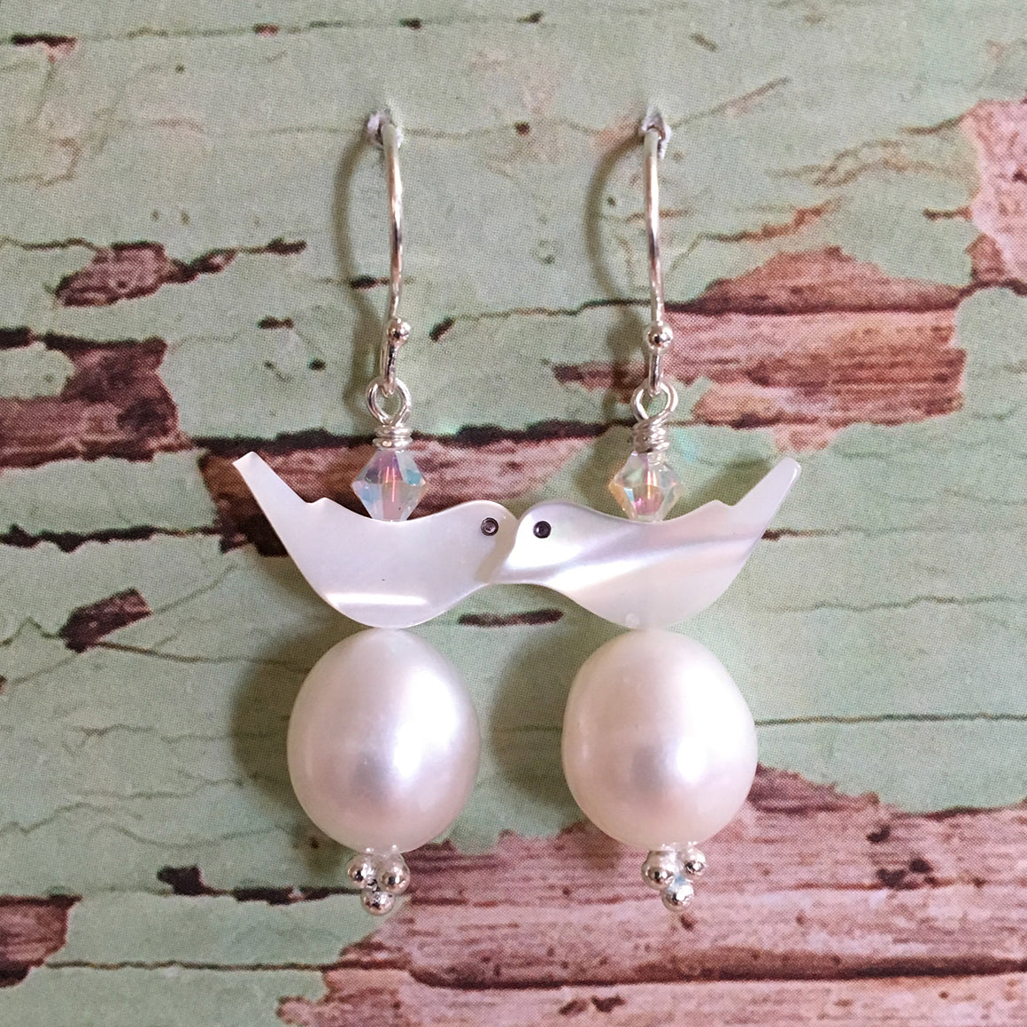 Bird and Egg Earrings