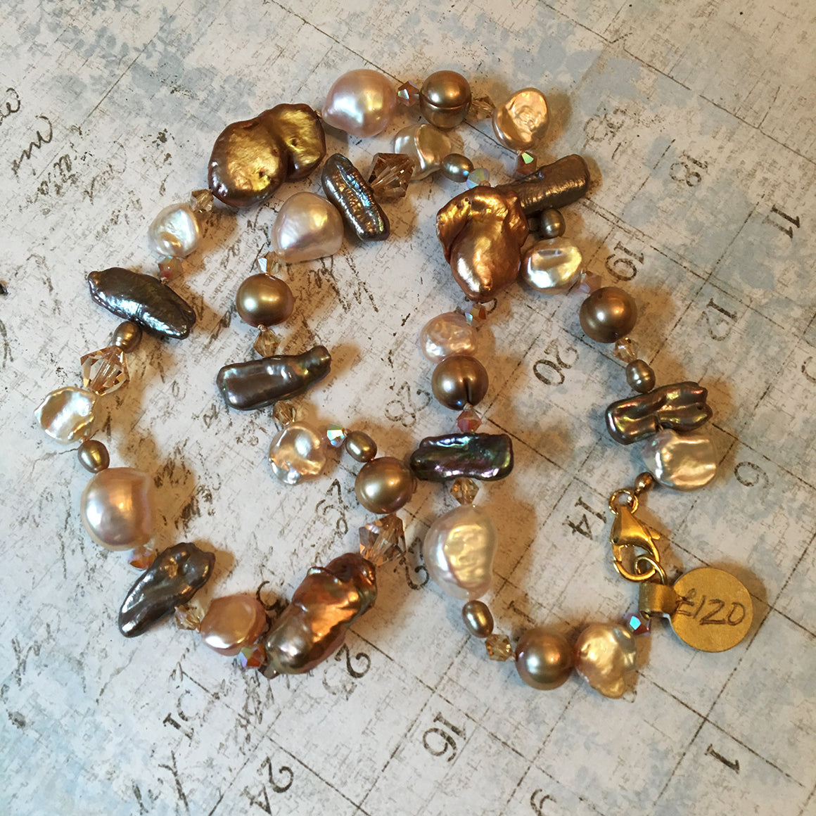 Caramel Mixed Pearl Necklace