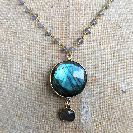 Double Labradorite Necklace