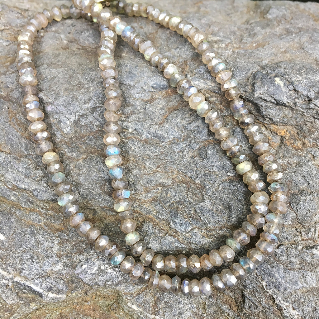 Faceted Labradorite Rondell Necklace