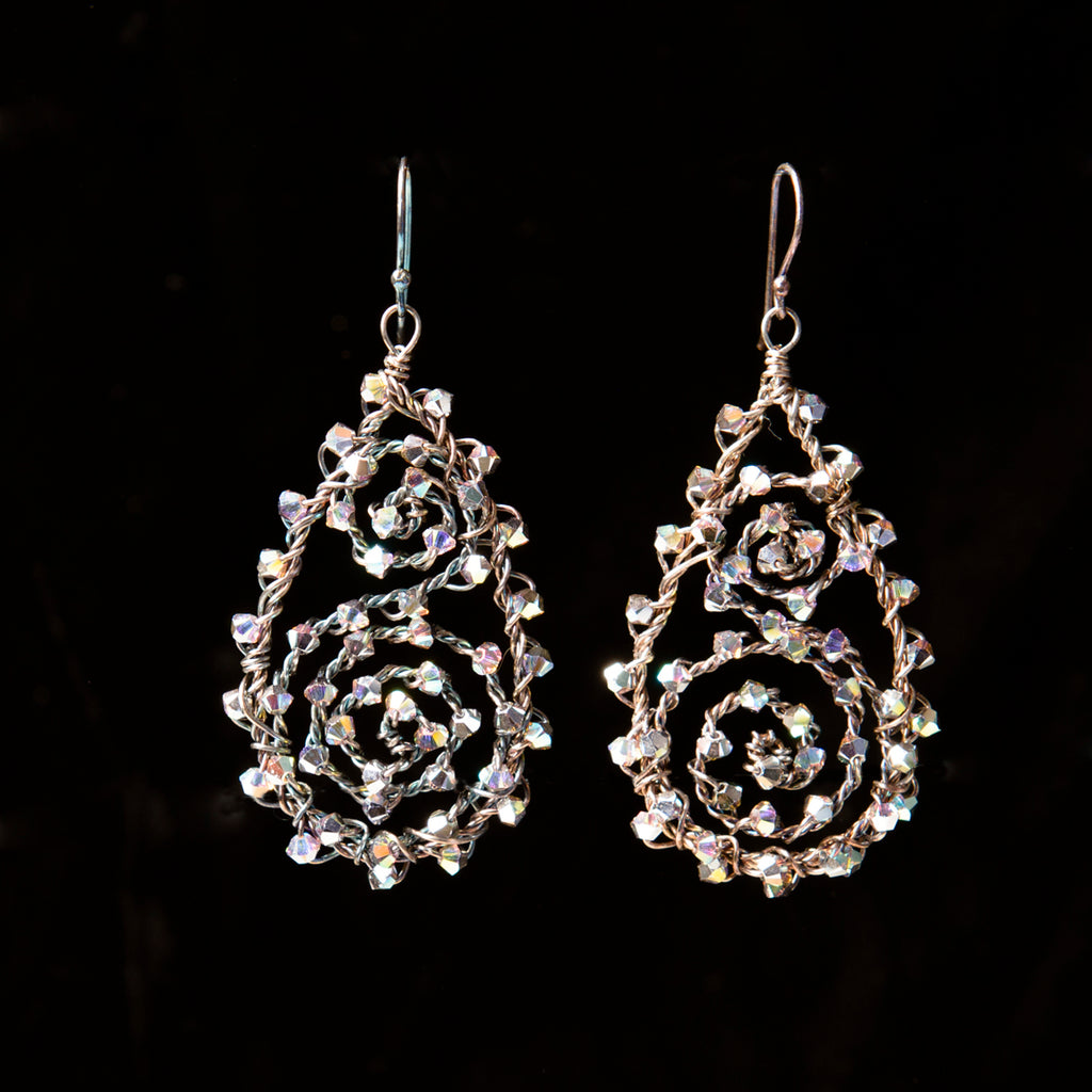 Filigree Oxidised Earrings