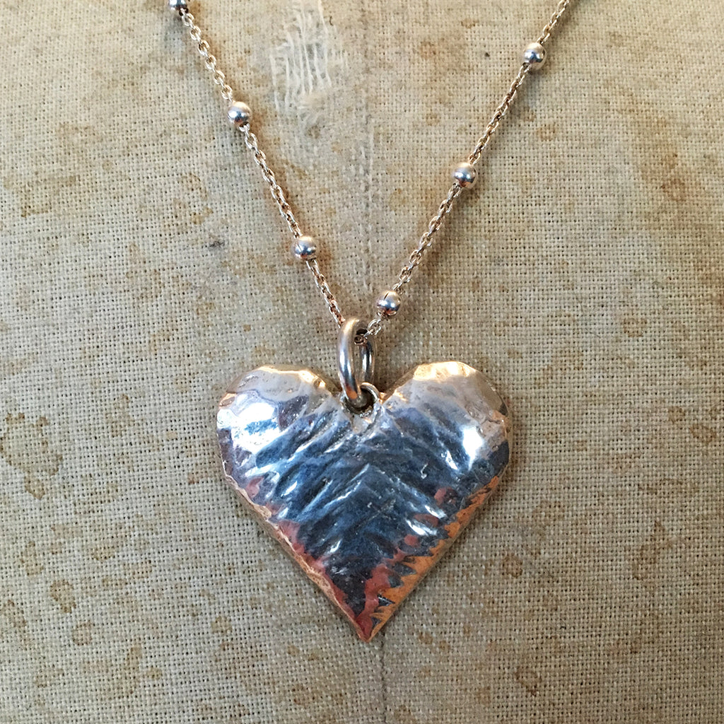 Hallmarked Solid Silver Heart Necklace